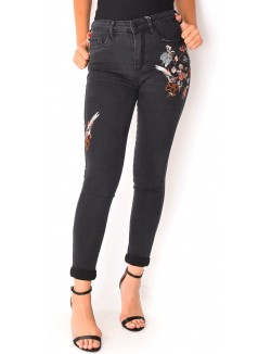 Jeans skinny à broderies