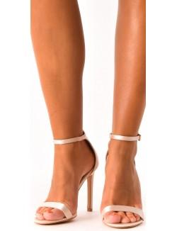 Sandales à talons à brides satinées