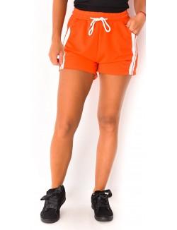 Short jersey à bandes