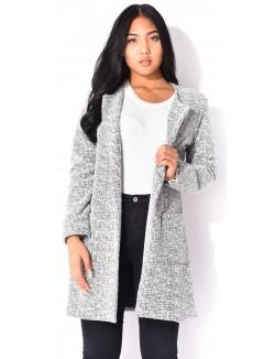Manteau chiné scintillant