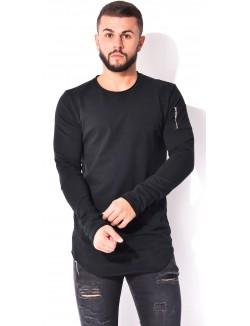 T-shirt manches longues à zip