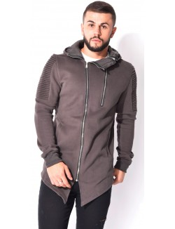 Sweat à capuche double zip