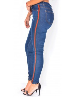 Jeans skinny à bandes