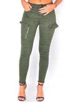 Pantalon cargo froissé
