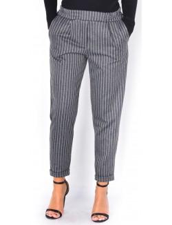 Pantalon épais à rayures