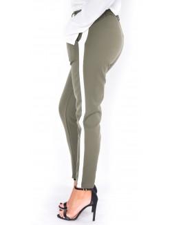 Pantalon fuselé à bandes