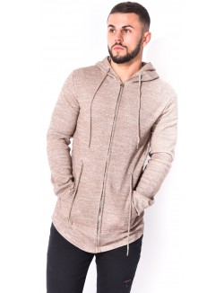 Sweat homme chiné à capuche