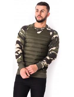 Sweat camouflage matelassé