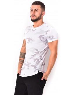 T-shirt camouflage à zip dans le dos