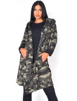 Sweat oversize camouflage