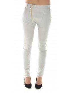 Pantalon sarouel gris chiné