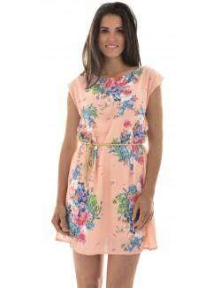Robe en voile à fleurs & ceinture