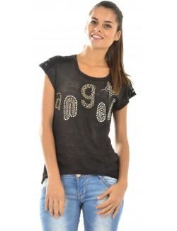 T-shirt femme ANGEL à manches dentelle