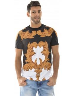 T-shirt Hudson Outerwear Leaf Black