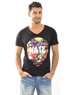 T-shirt Hate à fleurs