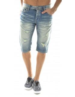 Bermuda homme en jeans Project X déchiré