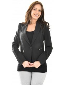 Blazer à poches zippées noir