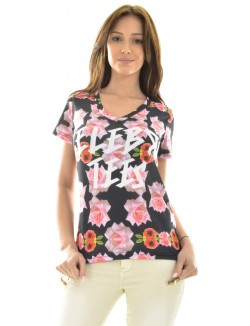 T-shirt Celebry Tees à roses