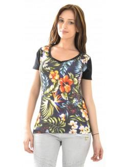 T-shirt Celebry Tees à fleurs hawaiennes