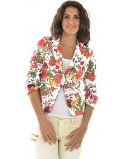 Veste blazer à motifs fleuris