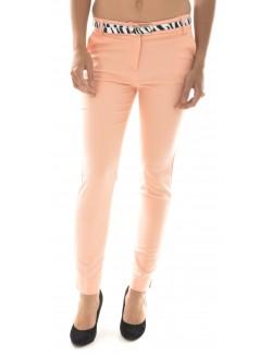 Pantalon tailleur à ceinture zébré