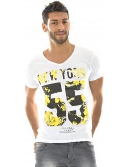 T-shirt homme Celebry Tees New York fleuri