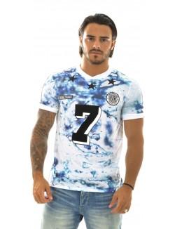 T-shirt homme Divine Trash Oil Print Soccer