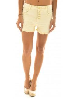 Short taille haute beige clair