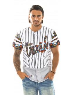Veste homme Baseball Floral Stripe