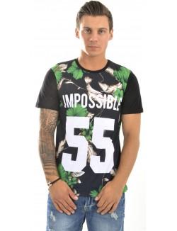 T-shirt Impossible 55 à fleurs