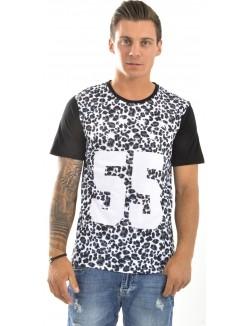 T-shirt homme Celebry Tees léopard 55