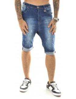 Bermuda homme en jeans bleu foncé