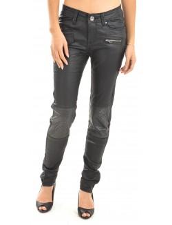 Pantalon noir huilé motard