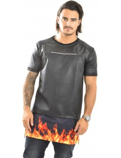 T-shirt Project X oversize flammes