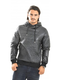 Sweat homme Project X matelassé en simili-cuir