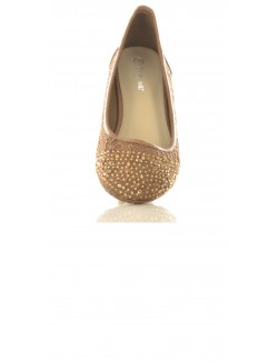 Ballerines en dentelle & strass