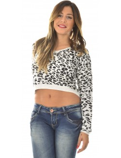 Pull crop léopard