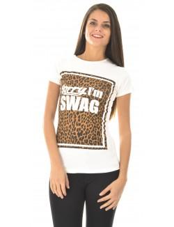 T-shirt Swagg à motifs léopard