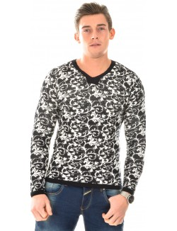 Pull homme Just Man à motifs baroques