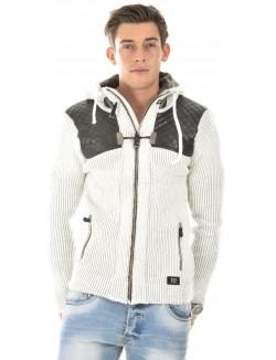 Gilet en laine zippé bimatière