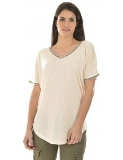T-shirt oversize à strass