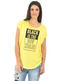 T-shirt fluide New Black
