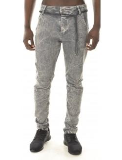 Jeans sarouel gris clair délavé