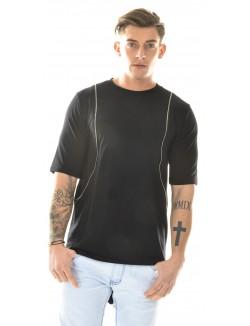 T-shirt oversize à zips