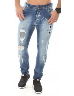 Jeans homme déchiré à tâches