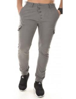 Pantalon chino sarouel à boutons