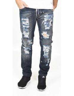 Jeans homme déchiré tâchés