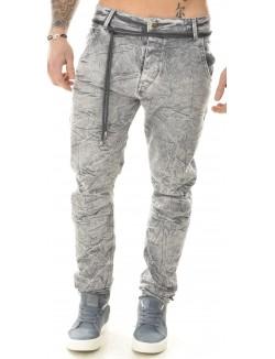Jeans sarouel délavé