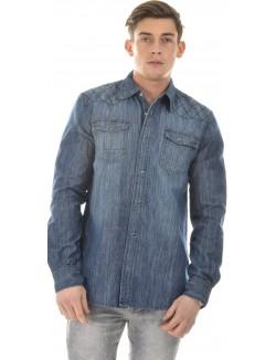 Chemise Biaggio en jeans matelassée