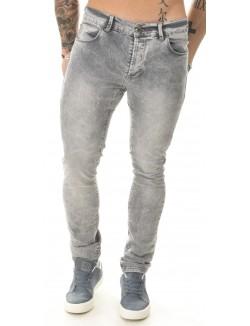Jeans homme gris clair délavé